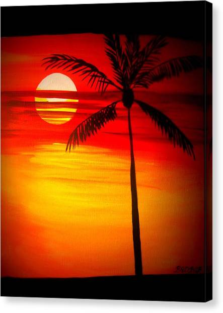 Bad Sunrise Canvas Print