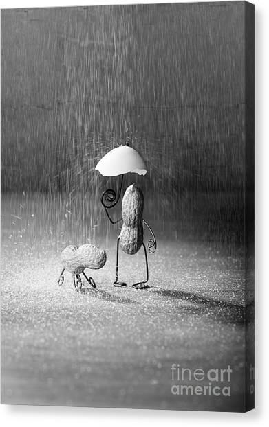 Eggshell Canvas Print - Bad Weather 01 by Nailia Schwarz