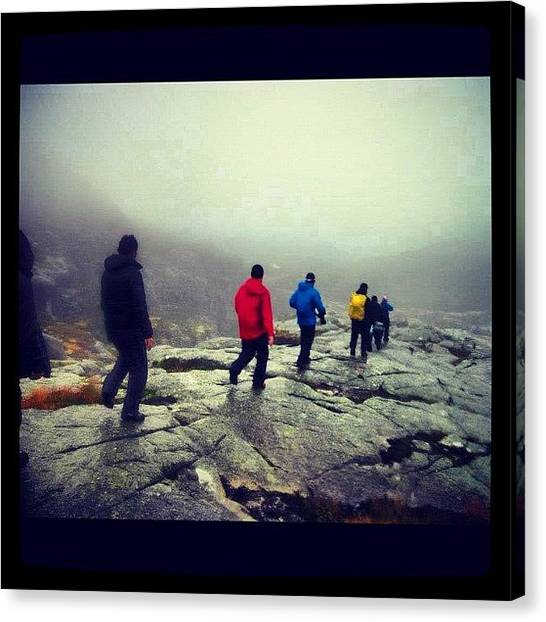 Preikestolen Canvas Print - Bad Weather, Cold And It's Raining by Kiko Bustamante