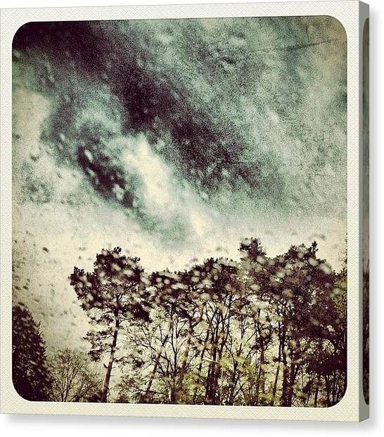 Drops Canvas Print - Bad Weather Today! 😢 by Wilbert Claessens