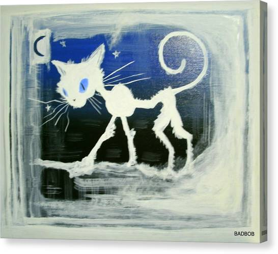 Badcat Canvas Print