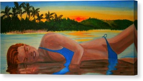 Badreflection Canvas Print