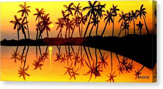 Badsummer Sun Canvas Print