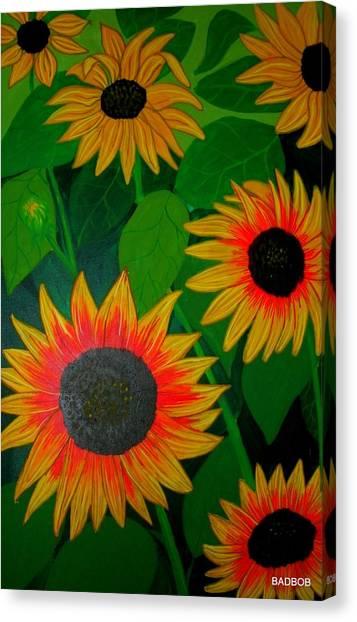 Badsunflower Canvas Print