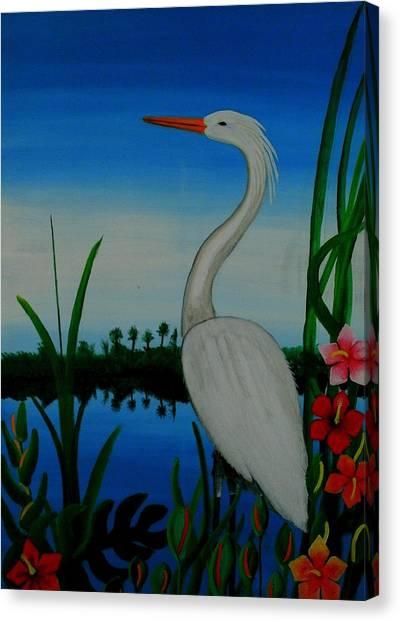 Badswan Bird Type Thing  Canvas Print