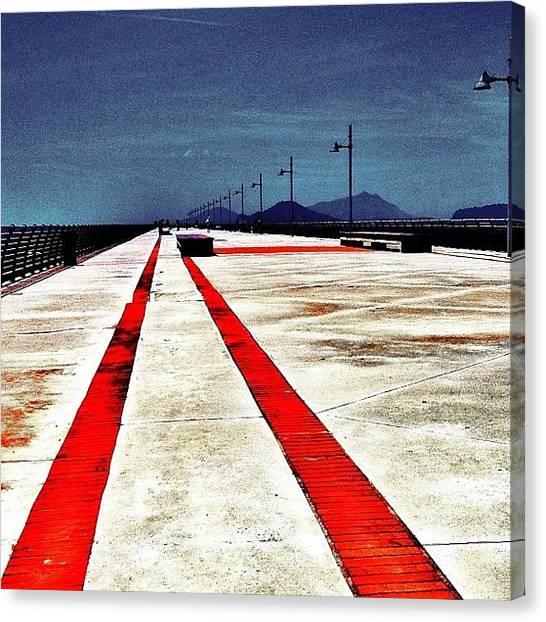 Canvas Print - Bagnoli Pier Napoli Italia 2012 by Gianluca Sommella