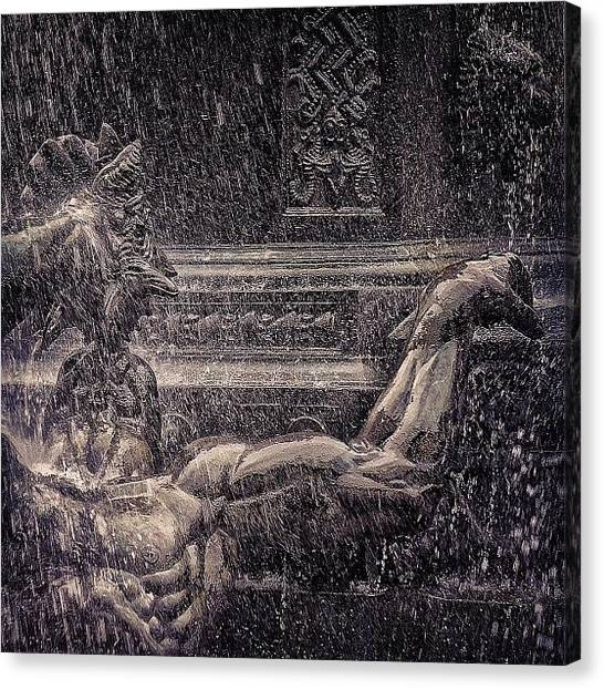 God Canvas Print - Bailey Fountain - Ny by Joel Lopez