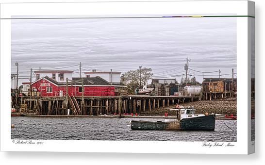Bailey Island Maine Canvas Print by Richard Bean