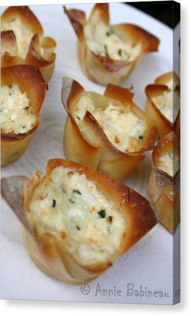Mayonnaise Canvas Print - Baked Crab Rangoon by Annie Babineau