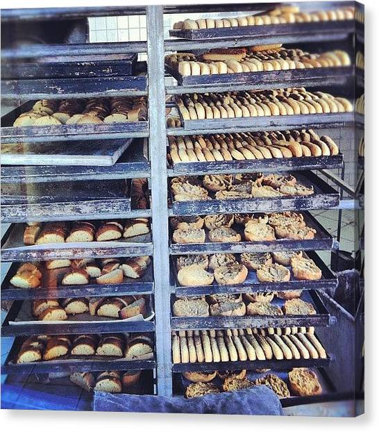 Bakeries Canvas Print - #bakery #fresh Bread by Marco Moretta