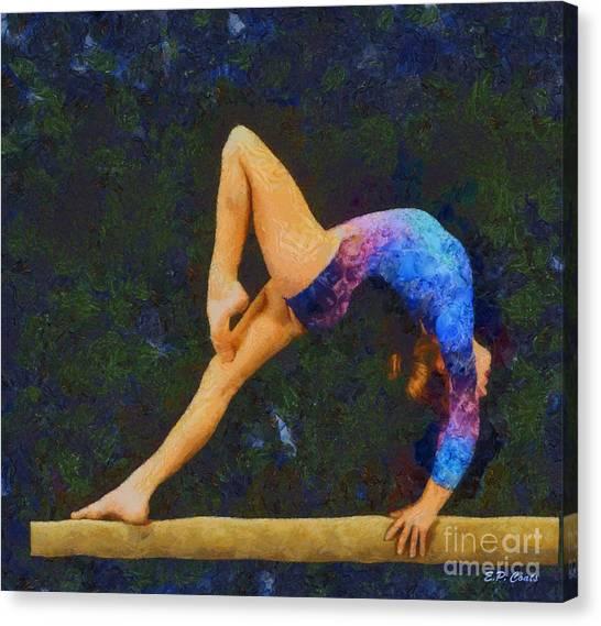 Balance Beam Canvas Print - Balance Beam by Elizabeth Coats