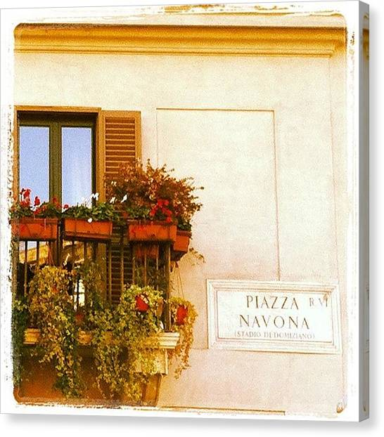 Rome Canvas Print - Balcón by Marce HH