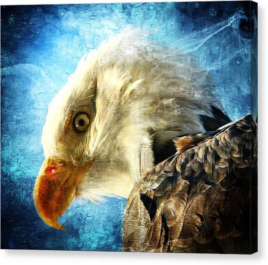 Bald Eagle Canvas Print by Carrie OBrien Sibley