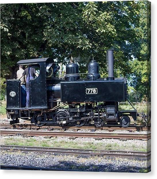 Locomotive Canvas Print - Baldwin Wd Loco No 778 At Pages Park by Dave Lee