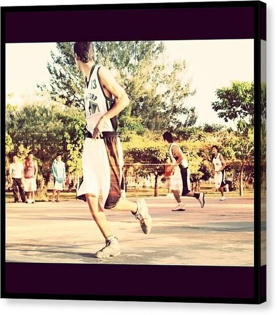 Basketball Players Canvas Print - #ball #basketball #bball by Almita Soul