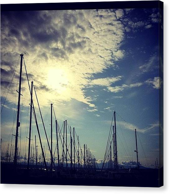 Marinas Canvas Print - Ballard Marina Seattle by Madeline Perez