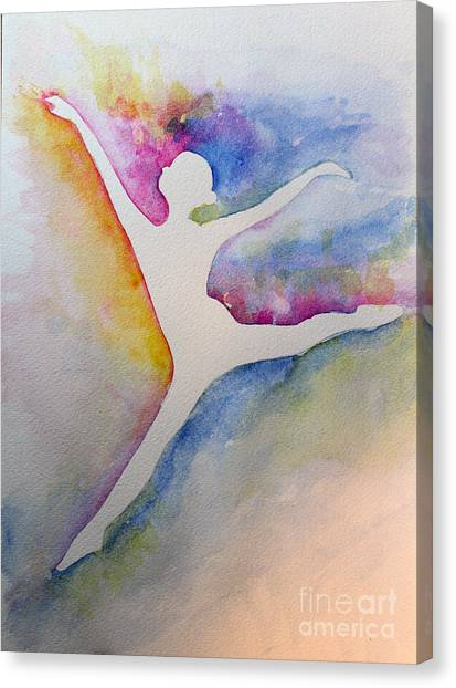 Ballet Leap 1 Canvas Print by Carolyn Weir