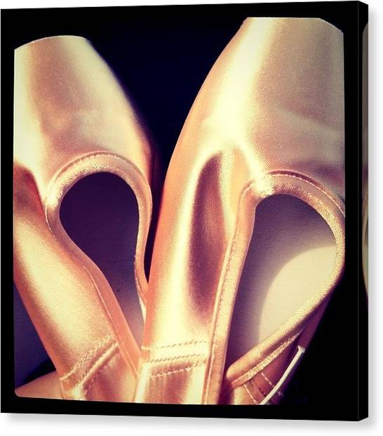 Ballet Shoes Canvas Print - #ballet #shoes #dance #point #girl by Xiu Ching