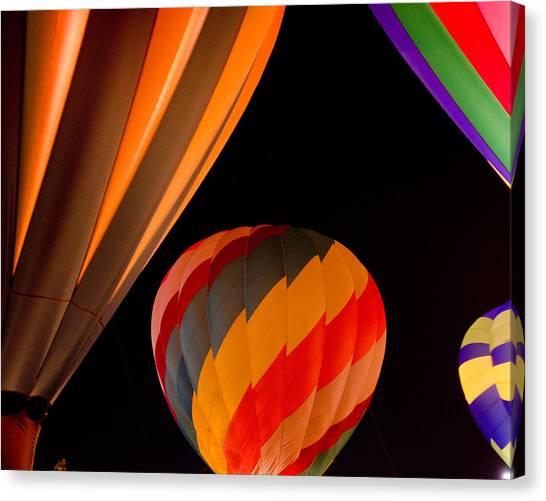 Balloon Glow  Canvas Print by Carol Norman