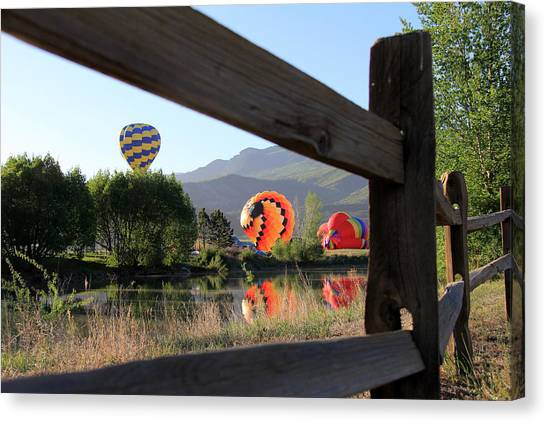 Balloon Launch-ridgway 2012 Canvas Print