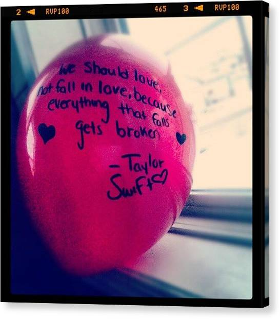 Taylor Swift Canvas Print - #balloon #red #taylor #swift by Kylie Christena