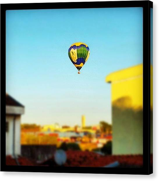 Balloons Canvas Print - #balloon #sky #blue #saocarlos #sport by Marcus Vinicius