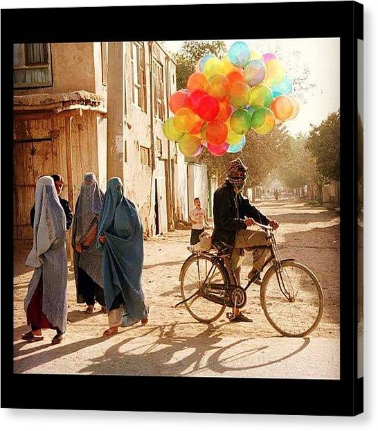 Bases Canvas Print - Balloons In Afghanistan by Cody Barnhart