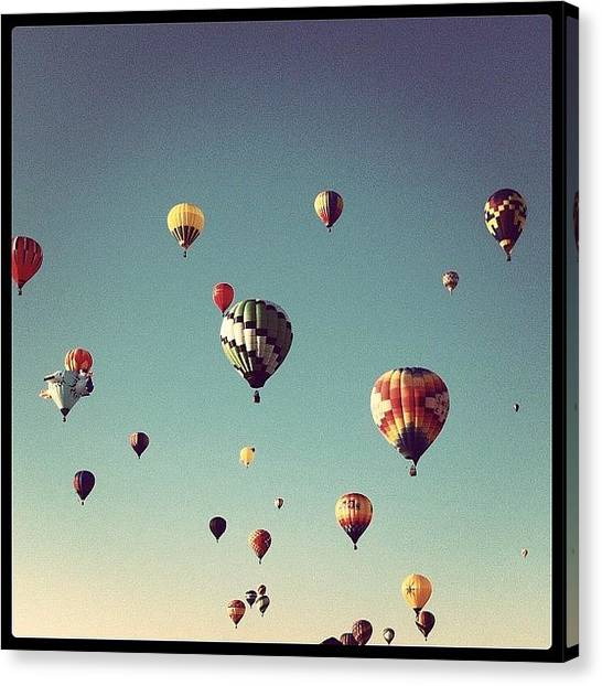 Firefighters Canvas Print - #balloons #sky #nice #based by Mario Pena