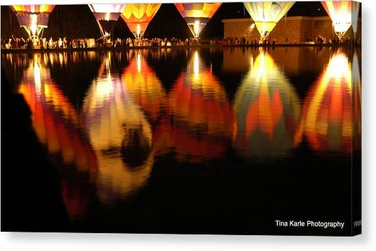 Baloominaria Reflections Canvas Print by Tina Karle