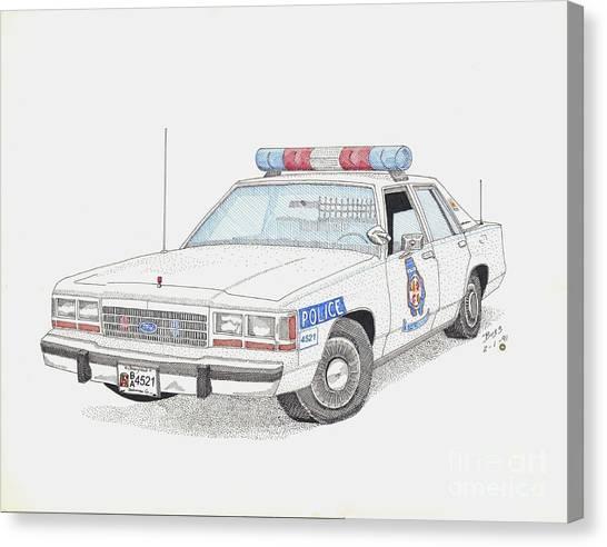 Baltimore County Police Car Canvas Print by Calvert Koerber