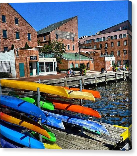 Kayaks Canvas Print - Baltimore The City Where I Live.... Uno by Sandra Lira