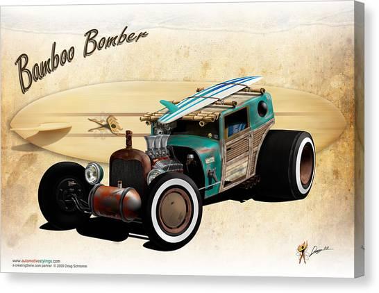 Bamboo Bomber Canvas Print
