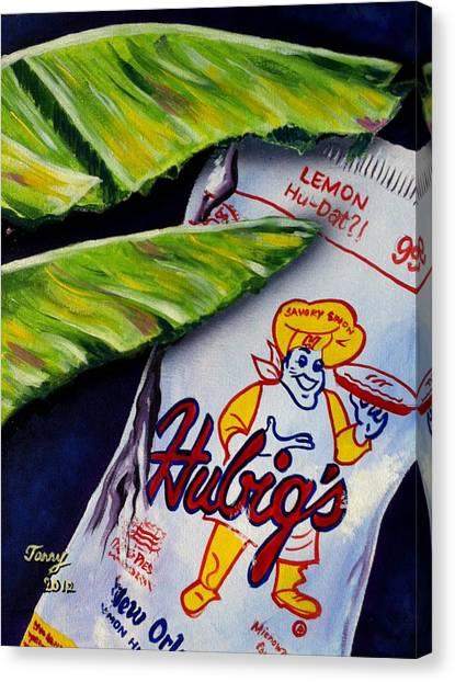 Banana Leaf Series-hubigs Pie Canvas Print by Terry J Marks Sr