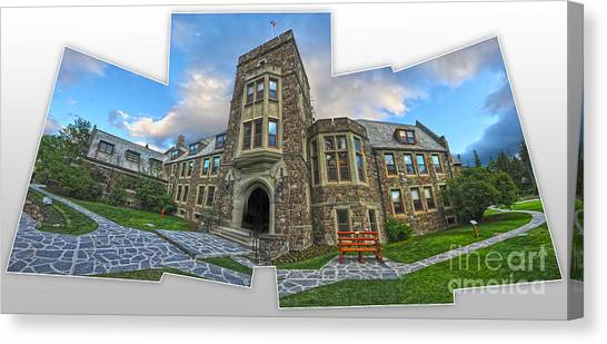 Banff -  Canada Place And Cascade Gallery Canvas Print by Gregory Dyer