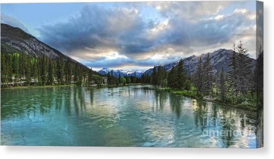 Banff And The Bow River - 01 Canvas Print by Gregory Dyer