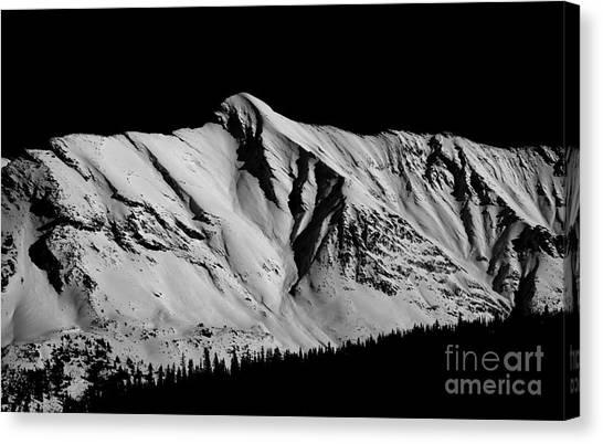 Banff National Park Monochrome Canvas Print by Terry Elniski