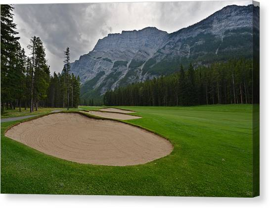 Canada Glacier Canvas Print - Banff Springs Golf Course by Bernard Chen