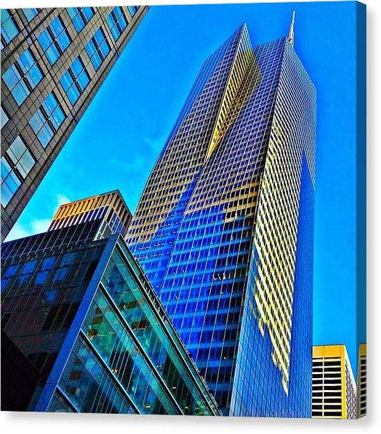 Skyscrapers Canvas Print - Bank Of America Tower - Ny  by Joel Lopez