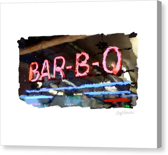 Bar-b-q Canvas Print by Geoff Strehlow