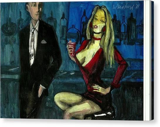 Bar Fly 7  3d   Canvas Print by Harry  Weisburd