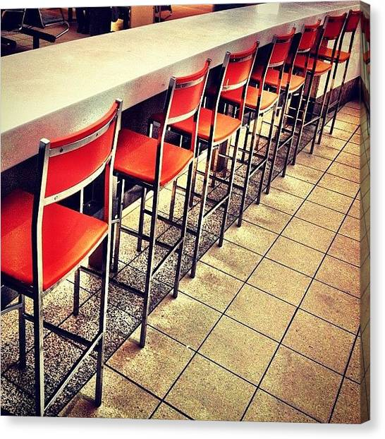Tables Canvas Print - Bar Food For Thought by Christopher Campbell