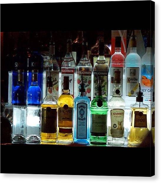 Pub Canvas Print - #bar #pub # Bottles #party #vodka #sky by Uriel Gonzalez