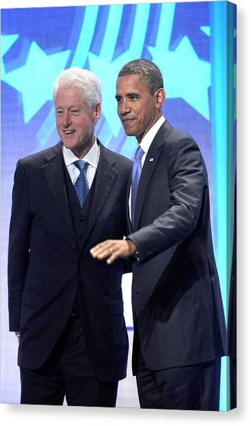 Bill Clinton Canvas Print - Barack Obama, Bill Clinton by Everett