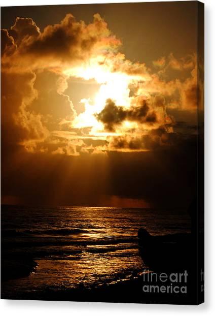 Barbadose Sunrise Canvas Print by Lenroy Johnson