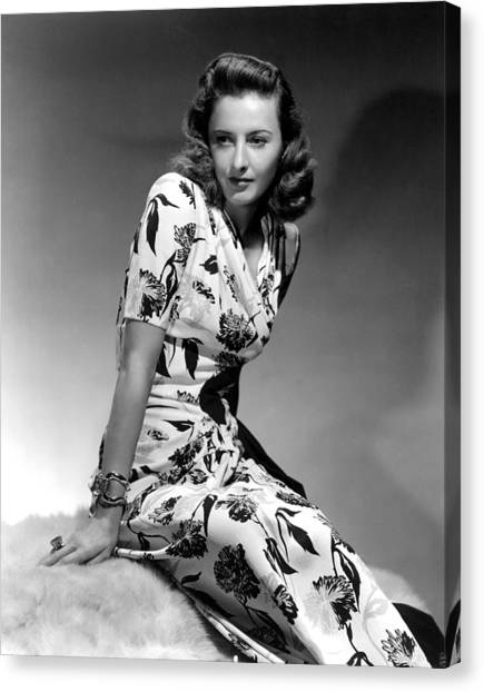 Barbara Stanwyck By Hurrell, 1940 Canvas Print by Everett