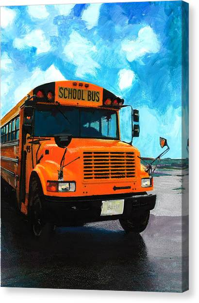 Barb's Bus Canvas Print