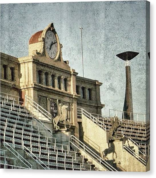 Barcelona Canvas Print - Barcelona - Olympic Stadium by Joel Lopez