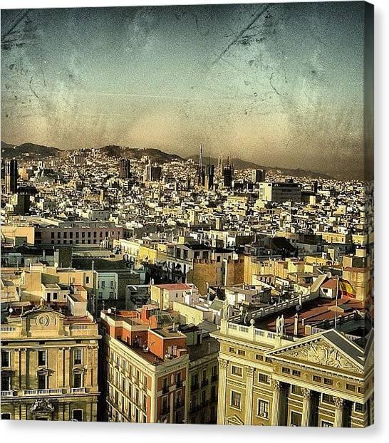 Mountain Canvas Print - Barcelona by Joel Lopez