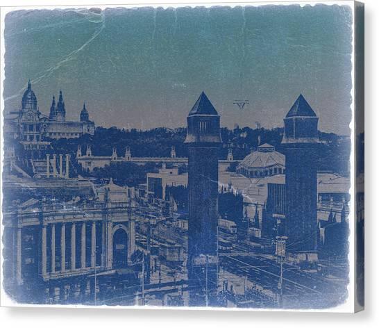 Barcelona Canvas Print - Barcelona by Naxart Studio