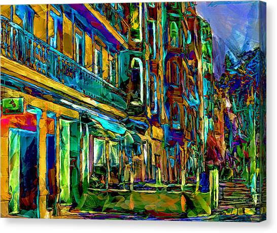 Barcelona Streets Two Canvas Print by Yury Malkov